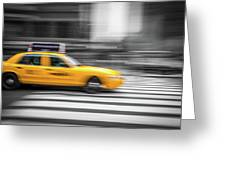 Yellow Cabs In New York 6 Greeting Card