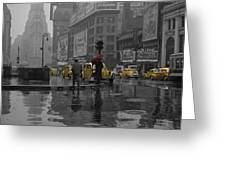 Yellow Cabs New York Greeting Card