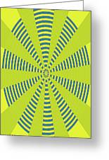 Yellow Cactus Spines Abstract Greeting Card