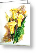 Yellow Callas Greeting Card