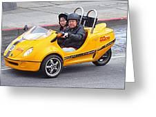 Yellow Car Greeting Card