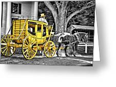 Yellow Carriage Greeting Card