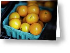 Yellow Cherry Tomatoes Greeting Card