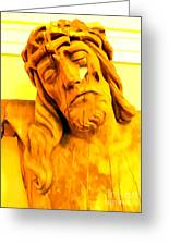 Yellow Christ #1 Greeting Card