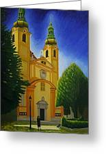 Yellow Church-vienna Greeting Card