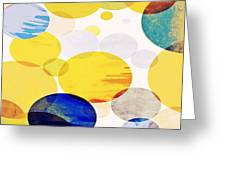 Yellow Circles Greeting Card