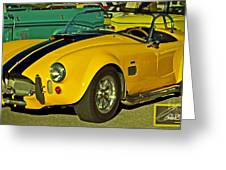 Yellow Cobra Greeting Card