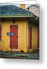 Yellow Cottage French Quarter- Nola Greeting Card