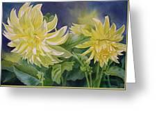 Yellow Dahlia Duet Greeting Card