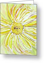 Yellow Daisy Portrait Greeting Card
