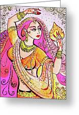 Yellow Devi Greeting Card