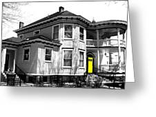 Yellow Door Greeting Card by Will Borden
