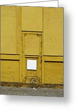 Yellow Door With Accent Greeting Card