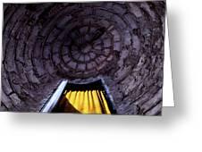 Yellow Doorway Abstract Greeting Card
