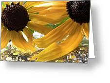 Yellow Droplet Petals Greeting Card