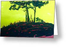Yellow Dusk Greeting Card