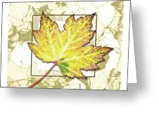 Yellow Fall Greeting Card