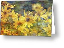 Yellow Flower View 4851 Idp_2 Greeting Card