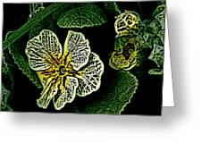Yellow Flower Woodcut Greeting Card