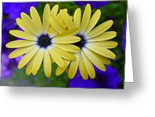 Yellow Flowers Embracing Greeting Card