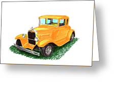 1932 Yellow Ford Hot Rod Coupe Greeting Card
