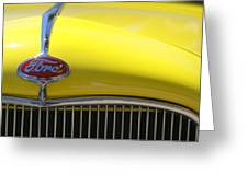 Yellow Ford Greeting Card