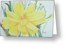 Yellow Garden Flower Greeting Card