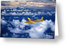 Yellow Glider Greeting Card