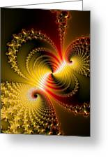 Yellow Gold Red Decorative Abstract Art Greeting Card
