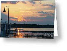 Yellow Gold Sunset Tapestry Greeting Card