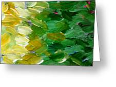 Yellow Green - Abstract Greeting Card