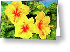 Yellow Hibiscus #65 Greeting Card