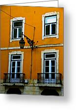 Yellow Italian Building Greeting Card