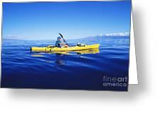 Yellow Kayak Greeting Card