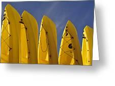 Yellow Kayaks Greeting Card