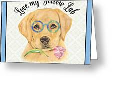 Yellow Lab-jp3869 Greeting Card