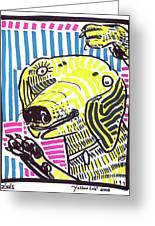 Yellow Lab Greeting Card by Robert Wolverton Jr