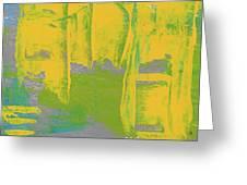 Yellow Ladders Greeting Card