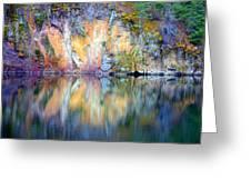Yellow Lake Abstract Greeting Card