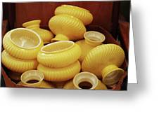 Yellow Lampshades Greeting Card