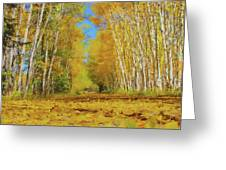 Yellow Leaf Road Greeting Card