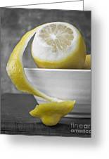 Yellow Lemons Greeting Card