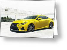 Yellow Lexus4 Greeting Card