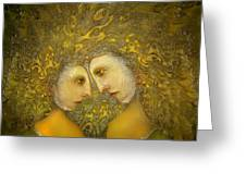 Yellow Lovers Greeting Card