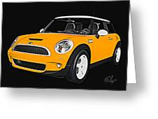 Yellow Mini  Greeting Card