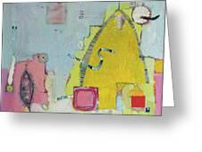 Yellow Mountain Greeting Card