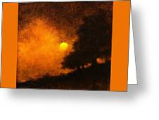Yellow Moon Greeting Card