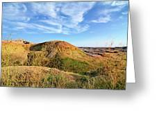 Yellow Mounds Greeting Card