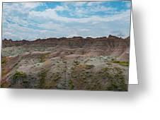 Yellow Mounds Panorama At Badlands South Dakota Greeting Card
