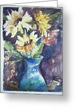 Yellow Mums Greeting Card by Dorothy Herron